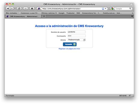 Webs administrables